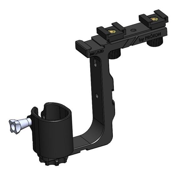 Suporte Iluminação Microfone Acessórios Osmo Mobile 1, X3