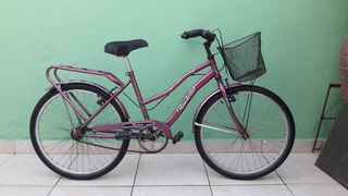 Bicicleta Rodado 24 Nena Paseo Con Canasto Y Portaequipaje