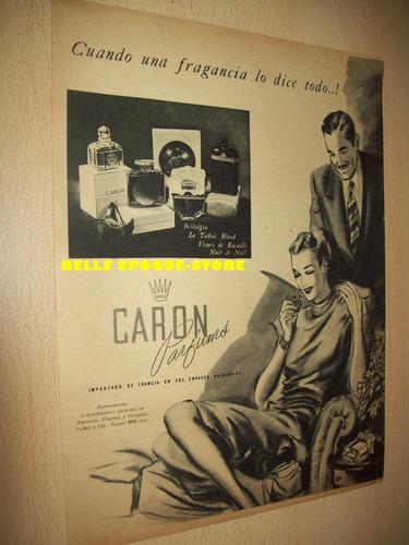 Clipping Antigua Publicidad Perfume Para La Mujer Caron