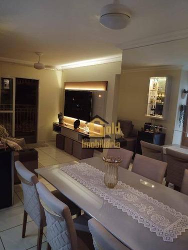 Apartamento Com 2 Dormitórios À Venda, 75 M² Por R$ 340.000 - Parque Industrial Lagoinha - Ribeirão Preto/sp - Ap2572