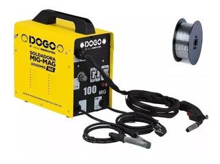 Soldadora Mig Dogo 100 Amp Flux + Alambre 1kg X 0,8mm