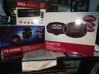 Combo Radio Boss Bluetooth Con 4 Parlantes