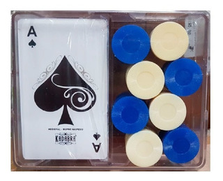 Kit Naipes Poker + 40 Fichas 3011