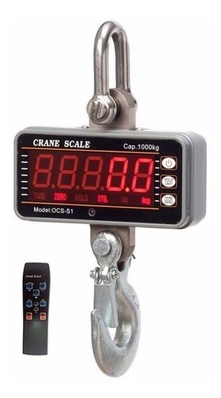 Bascula Portatil Gancho 1000 Kg 2000lb Digital Leds Control