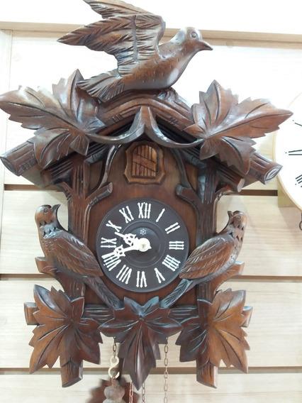 Relógio Cuco Antigo À Corda Em Madeira Nobre Revisado