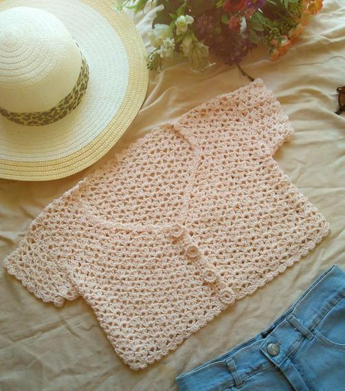 Top De Hilo Tejido A Crochet