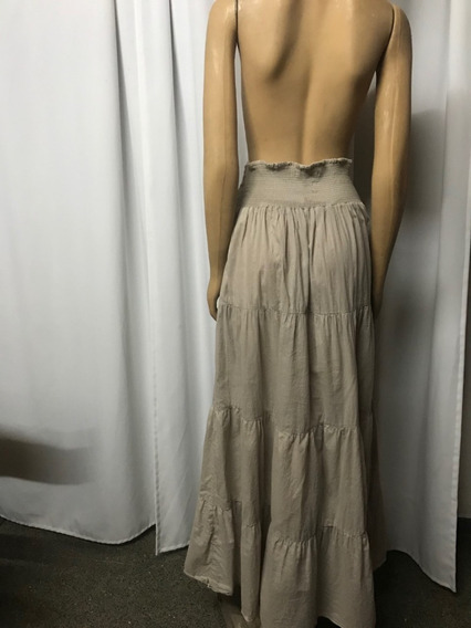 Vestido Straples /pollera Zara Fresquísima Tela Algodón. T.l
