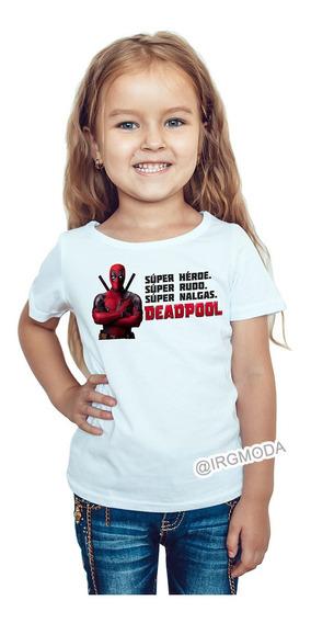 Camiseta Infantil Mujer Deadpool Moda Lifestyle Polialgodon