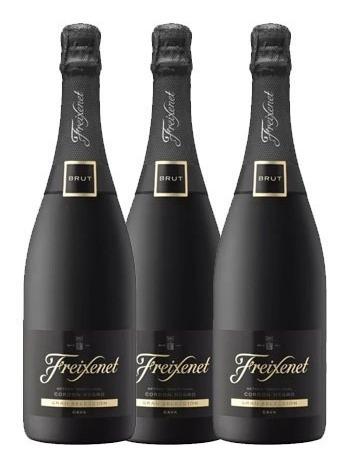 Combo 3 Pack Vino Espumante Cordon Negro Freixenet 0,75 L Lf