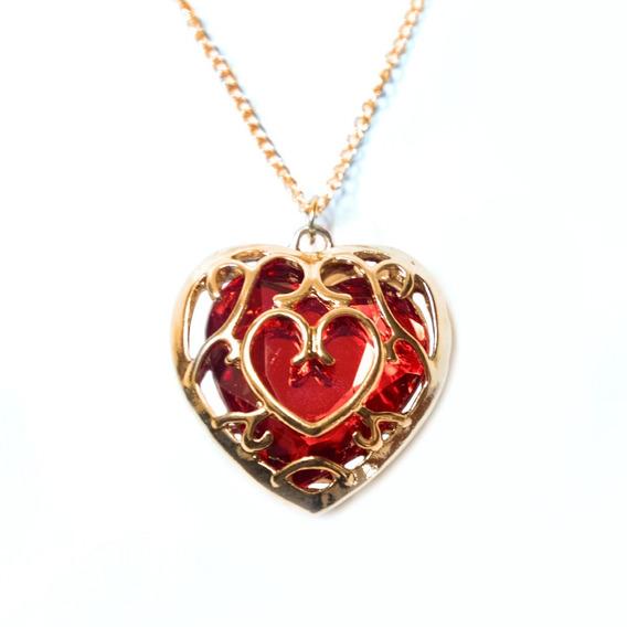 Collar Zelda Contenedor De Corazón Rojo The Legend Of Zelda
