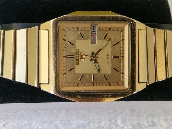 Reloj Seiko 5 Automatico Lamina De Oro De Coleccion