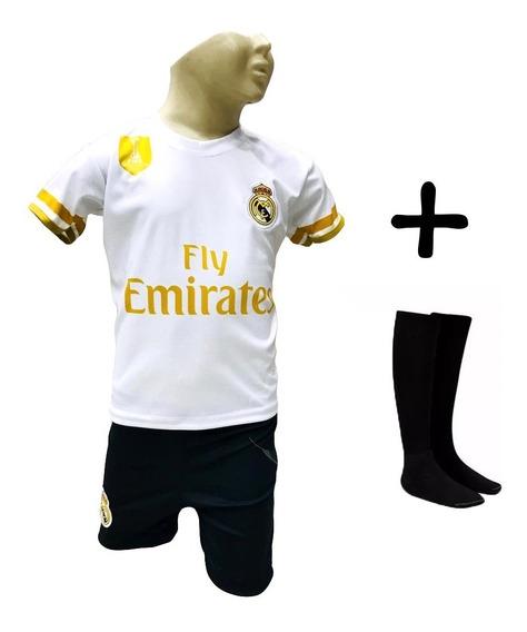 Conjunto Pronta Entre Real Madrid Modric + Meião Infantil