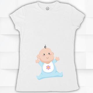 Blusa / Playera Hombre O Mujer Cue Baby Bebe Embarazada #528