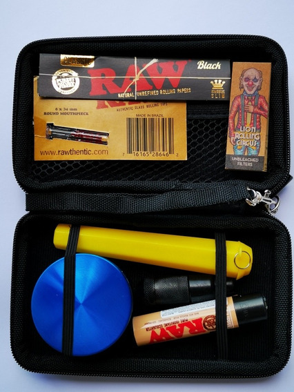 Estuche Cartuchera Kit Completo Raw Lion Ocb Combo Ideal