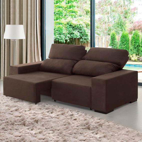 Sofá 3 Lugares Relax Retrátil E Reclinável - Viero Móveis