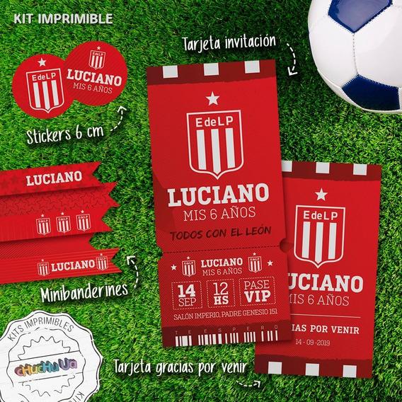 Kit Imprimible Fútbol Estudiantes