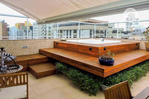 Imagem 1 de 30 de Pitangueiras - Excelente Cobertura - Reformada - Terraço Com Lazer - 03 Vagas De Garagem. - Co0220