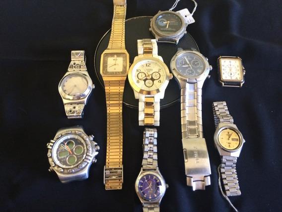 Lote 9 Relógios De Pulso Feminino-masculino-