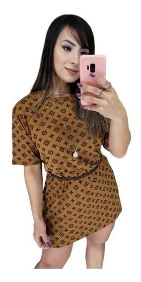Blusão Camisão Feminino Vestido Curto Tendência 2019