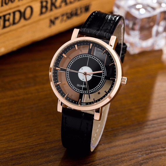 Relógio Feminino Womage Bracelete Barato Em Couro Sintético