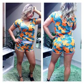 0e4f86bf3 Roupa Feminina Conjunto Short Blusa - Calçados, Roupas e Bolsas ...