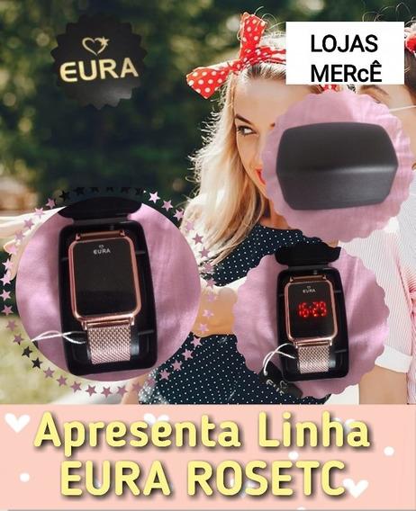 Relogio Rose Eura Touch Screen Com Frete Gratis Lojasmerce