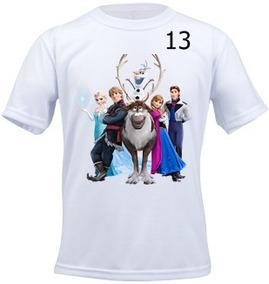 Camiseta Infantil Personalizada Frosen