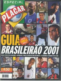 Revista Digitalizada Placar Guia Brasileirão 2001 + 2 Álbuns