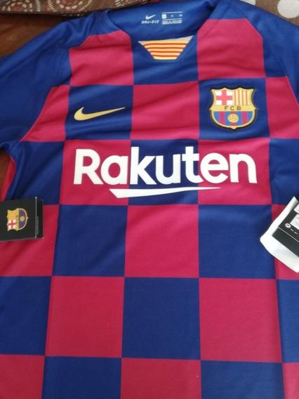 Playera Original Del Barcelona Talla Xl Niño