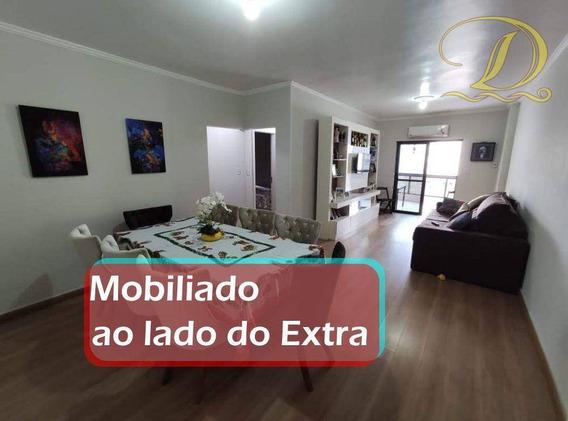 Apartamento Com 3 Dormitórios À Venda, 138 M² Por R$ 400.000 - Vila Guilhermina - Praia Grande/sp - Ap3138