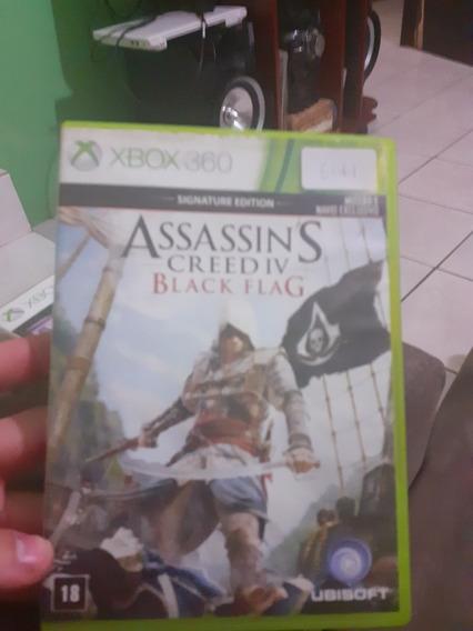 Jogo Xbox 360 Original Assassins Creed Iv Black Flag