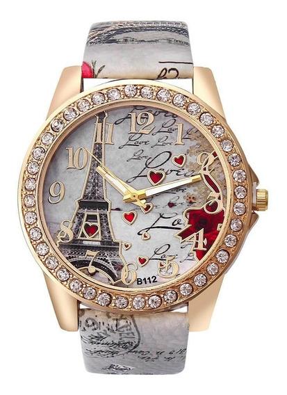 Relógio Feminino Paris + Super Brinde