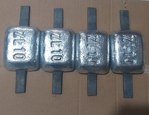 4 Unidades De Anodo Sacrificio Zinco 1 Kg Cada