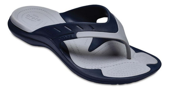 Ojotas Hombre Crocs Modi Sport Flip Navy /light Grey