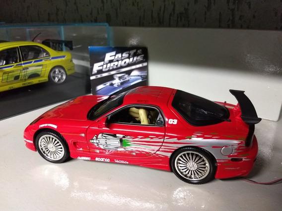Mazda Rx-7 Velozes E Furiosos 1:18 Ertl Com Néon