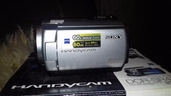 Ótima Filmadora Sony Dcr Sr47 Hd 60gb Zoom 60x Semi Nova