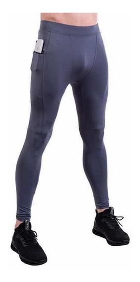 Pantalón Licra Deportiva Pants Compresión Bolsa Para Celular