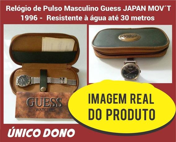 Relógio De Pulso Masculino Guess Japan Mov´t 1996