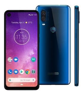 Celular Motorola Moto One Vision 128gb Azul Safira (vitrine)