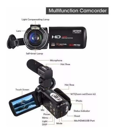 Filmadora Dig Ordro Hdv-z20 Full-hd 24mp Com Microfone