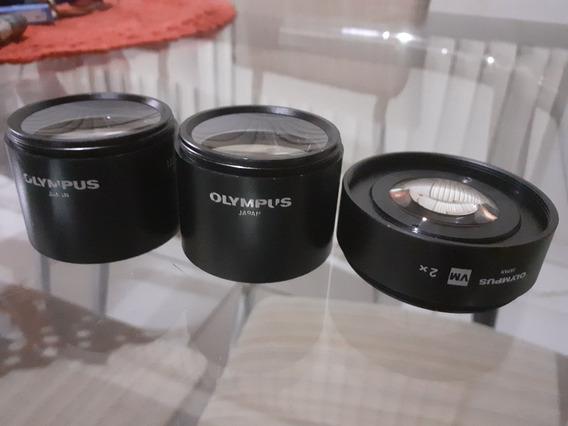Lentes Auxiliares Para Microscópio Estéreo Marca Olympus