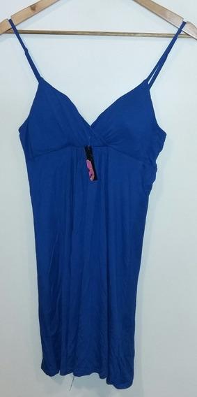 Vestido Azul Francia Con Bustier 21 Talle M Nuevo!!