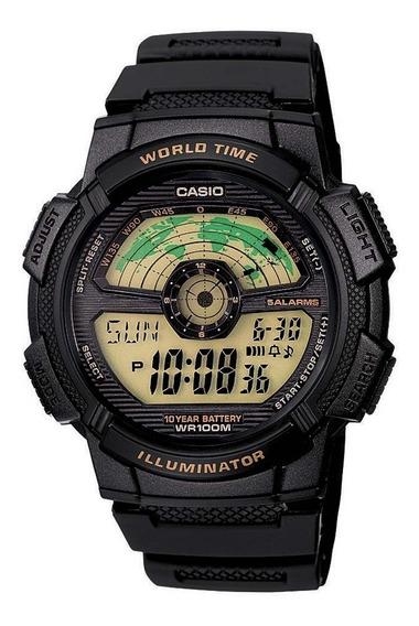 Relógio Casio Ae1100w-1bdvf. 100 Metros. 100% Original.
