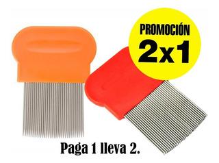 Peine Metalico Piojos Y Liendre Paga 1 Lleva 2 Acero Inoxid