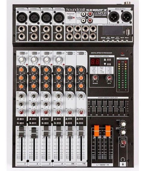 Mixer Analogico Soundcraft Sx802fs Usb 8 Canais