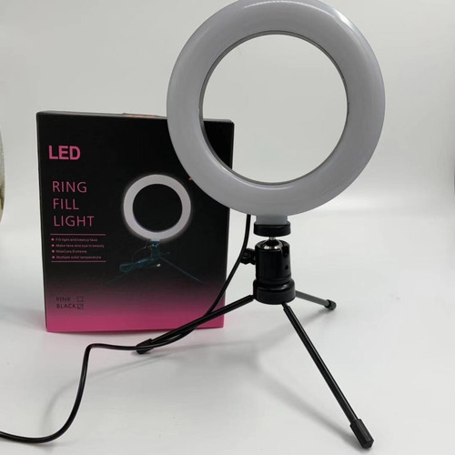Ring Light Iluminador 16cm 6,5 Polegadas Usb Led + Tripé