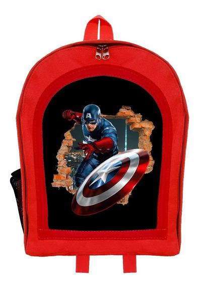 Mochila Infantil Jardín Superhéroes Capitán América Givan