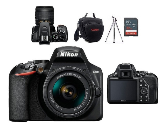 Nikon D3500 Kit 18.55mm Vr+bolsa+tripé 32gb