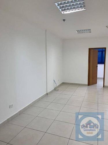 Imagem 1 de 20 de Sala Para Alugar, 55 M² Por R$ 2.500/mês - Centro - Santos/sp - Sa0157