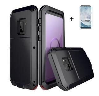 Carcasa Metálica Samsung Galaxy S10 S8 S9 Plus + Lámina Nano